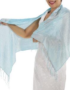 Baby Blue Silk Scarf