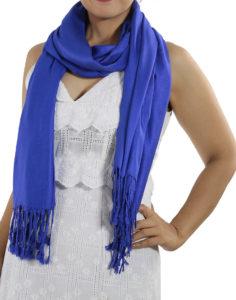 blue pashminas