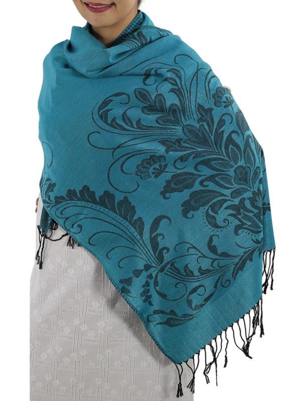 buy aqua blue pashmina scarves
