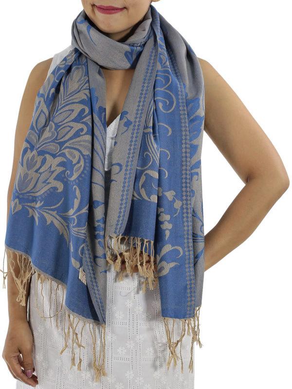 buy blue pashmina wrap
