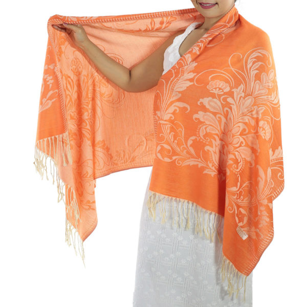 buy orange pashmina scarf
