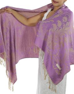 buy purple pashmina scarf