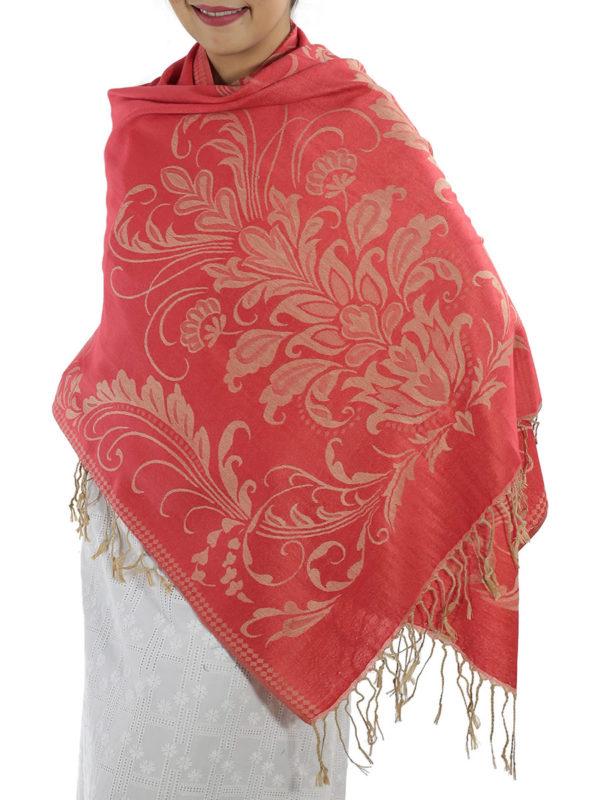 buy red pashmina scarves