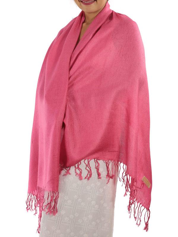 hot pink pashmina shawl