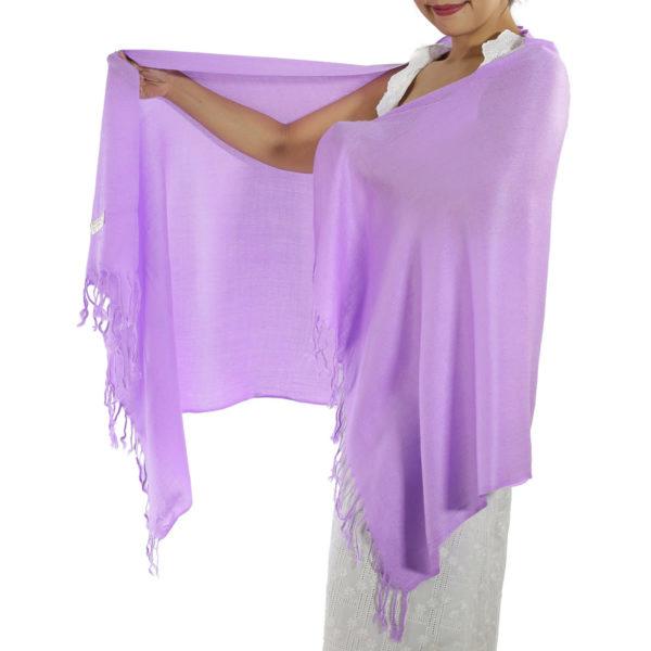 lavender pashmina scarf 1