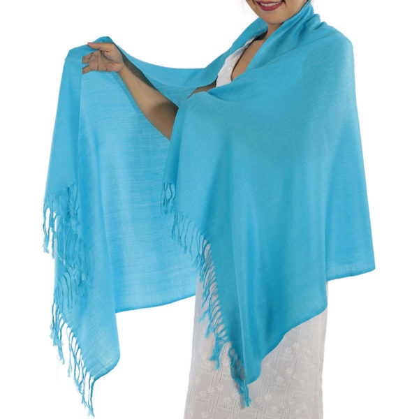 light blue pashmina scarf