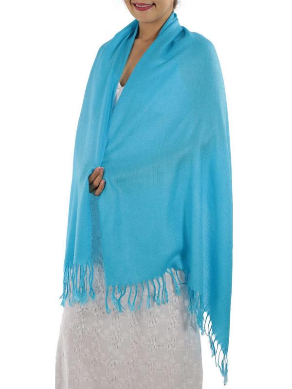 light blue pashmina wrap